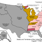 Map of States and Territories of the United States of America, 1789-1790